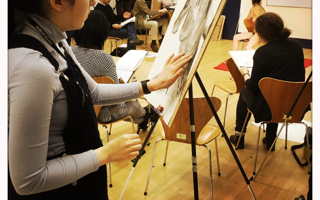 Wednesday evening drop In Life Drawing at Waterloo Action Centre, Waterloo