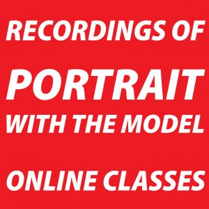 Recordings of Online Portrait with the Model Sessions
